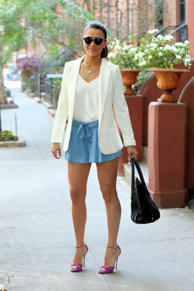 Andi Dorfman in Short Skirt out in New York