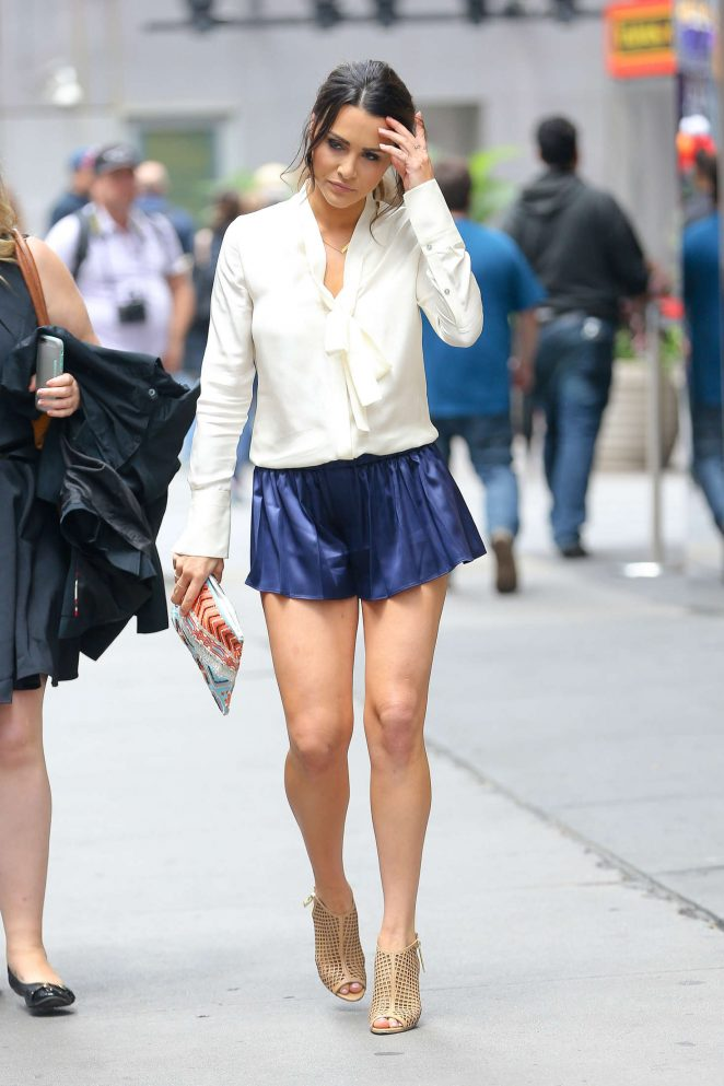 Andi Dorfman in Shorts out in New York