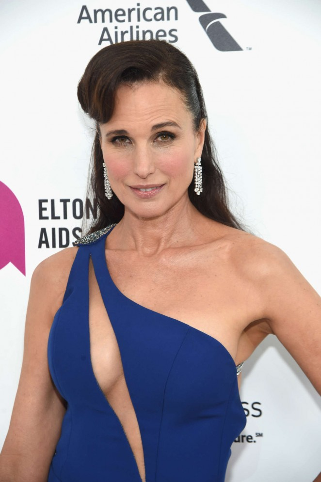 Andie MacDowell - 2016 Elton John AIDS Foundation's Oscar Viewing Party in West Hollywood