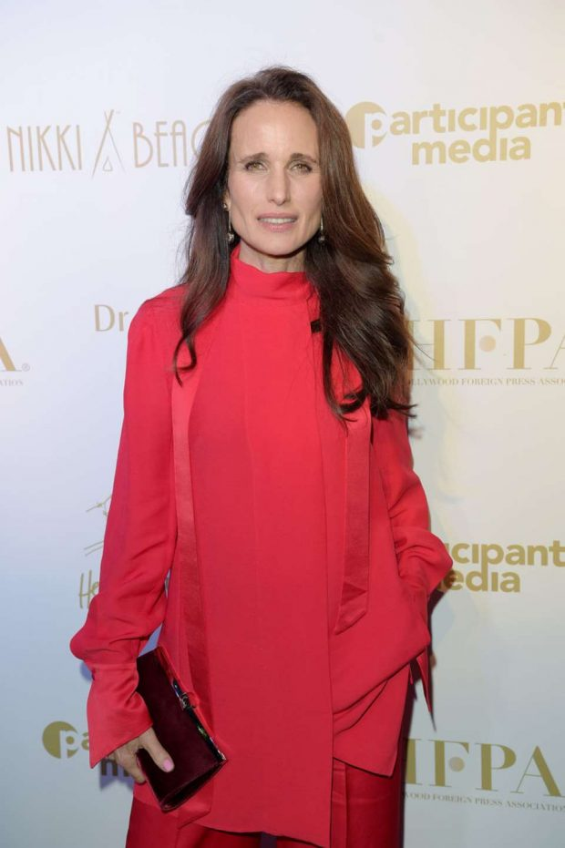 Andie MacDowell - HFPA & Participant Media Honour Hep Refugees in Cannes