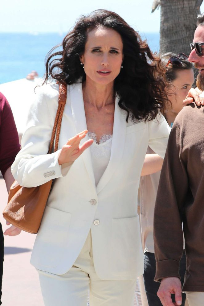 Andie MacDowell out in Cannes