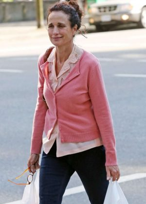 Andie Macdowell Out Shopping in Vancouver