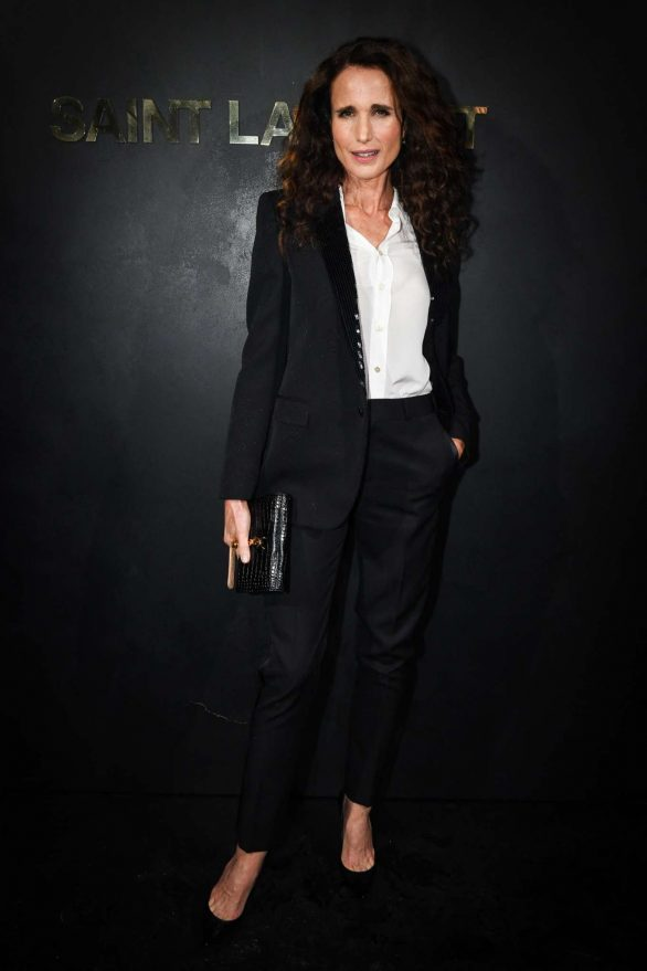 Andie MacDowell - Saint Laurent Womenswear SS 2020 Show at Paris Fashion Week