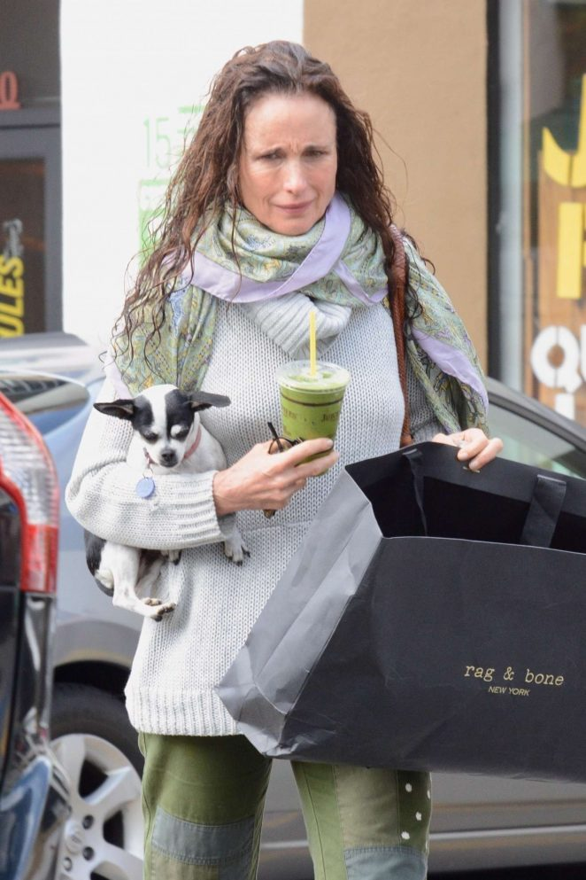Andie MacDowell - Shopping in Los Feliz
