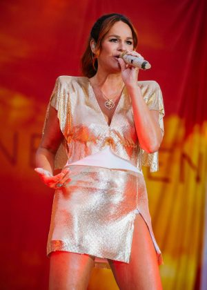 Andrea Berg Performs in Aspach