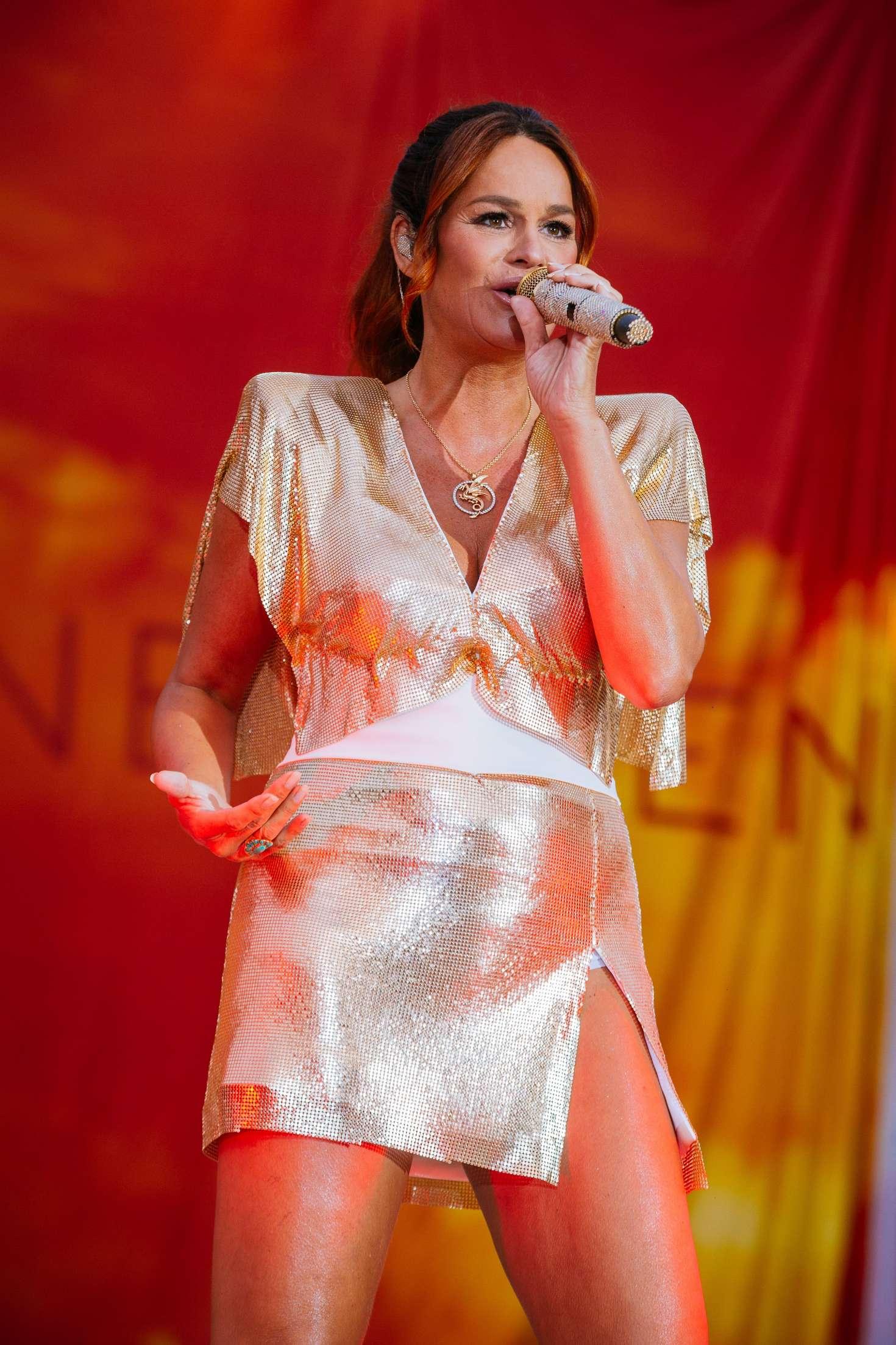 Andrea Berg Performs in Aspach