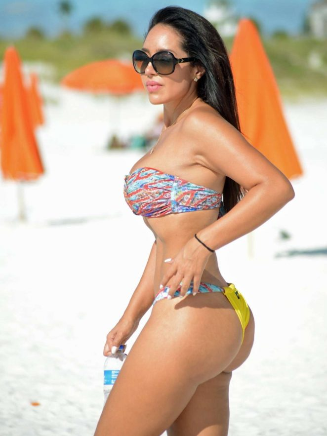 Andrea Calle in Bikini Top and Shorts Pic 34 of 35