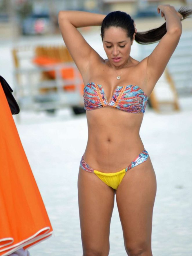 Andrea Calle in Bikini Top and Shorts Pic 15 of 35