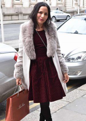 Andrea Corr heading to Patrick Guilbaud Restaurant in Dublin