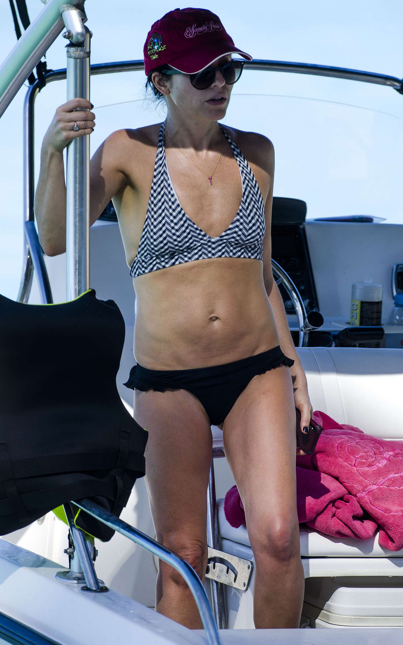 Andrea Corr in Bikini at the Posh Sandy Lane Hotel in Barbados