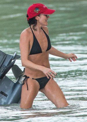 Andrea Corr in Bikini on a boat in Bridgetown
