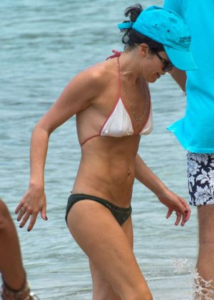 Andrea Corr in Bikini on the beach in Barbados