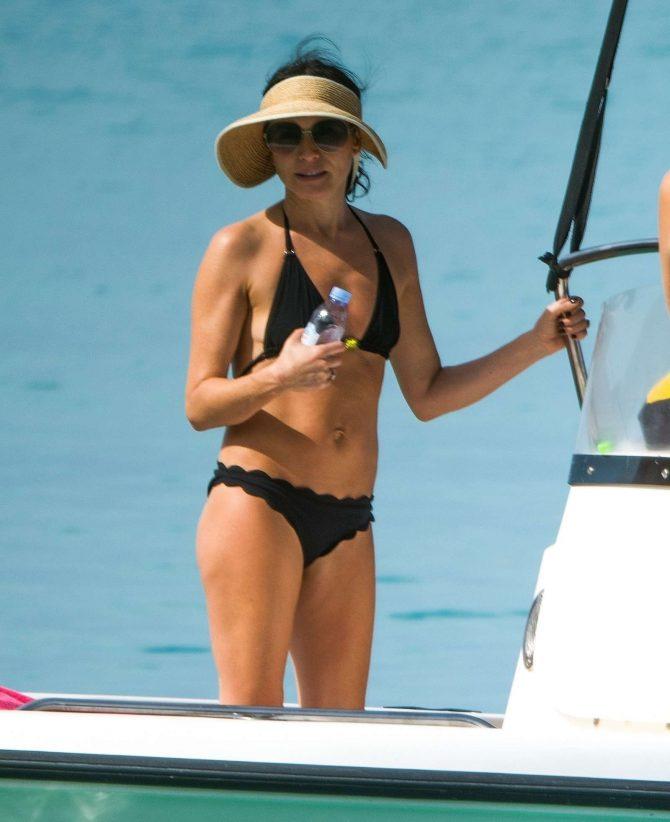 Andrea Corr in Bikini on the beach in Barbados