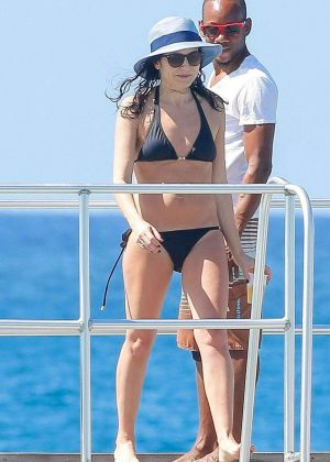 Andrea Corr in Black Bikini in Barbados