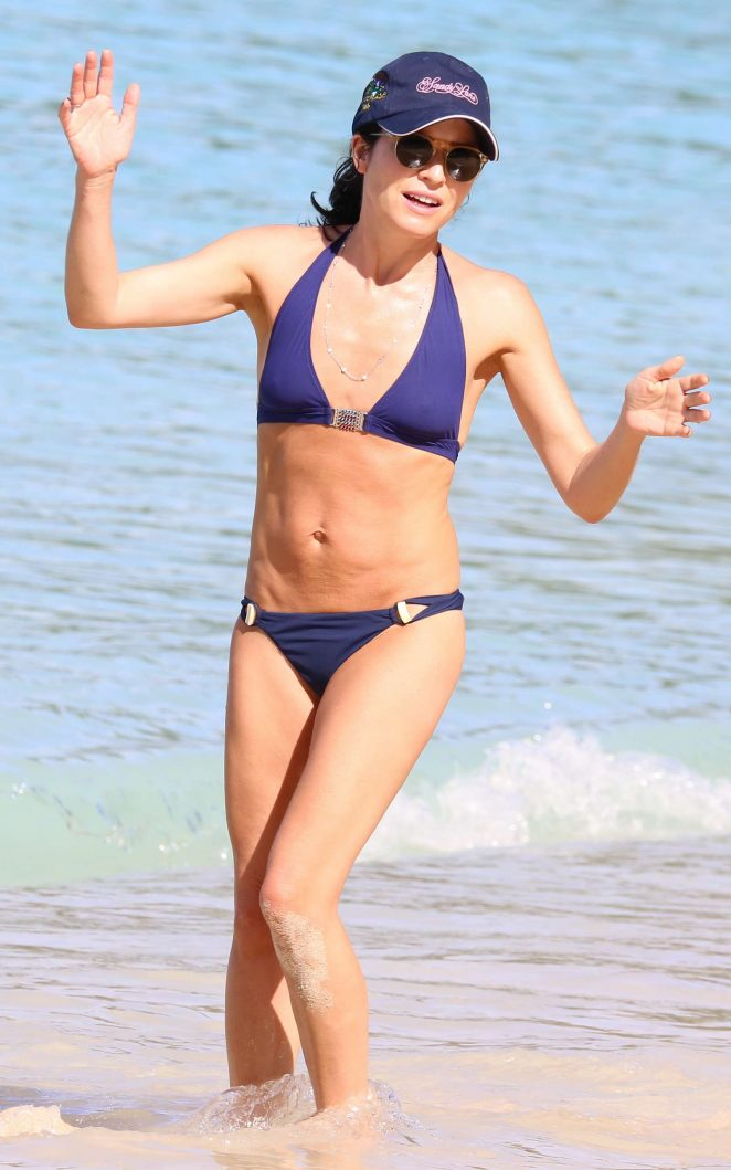 Andrea corr in blue bikini on the beach in barbados altavistaventures Choice Image