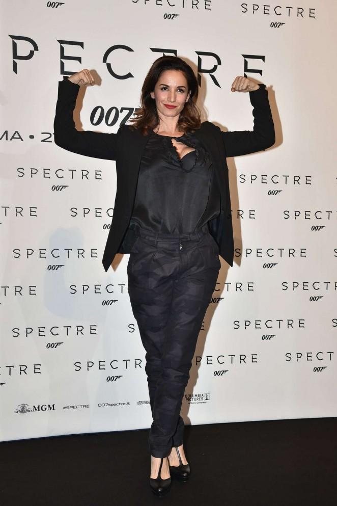 Andrea Delogu – 'Spectre' Premiere in Rome
