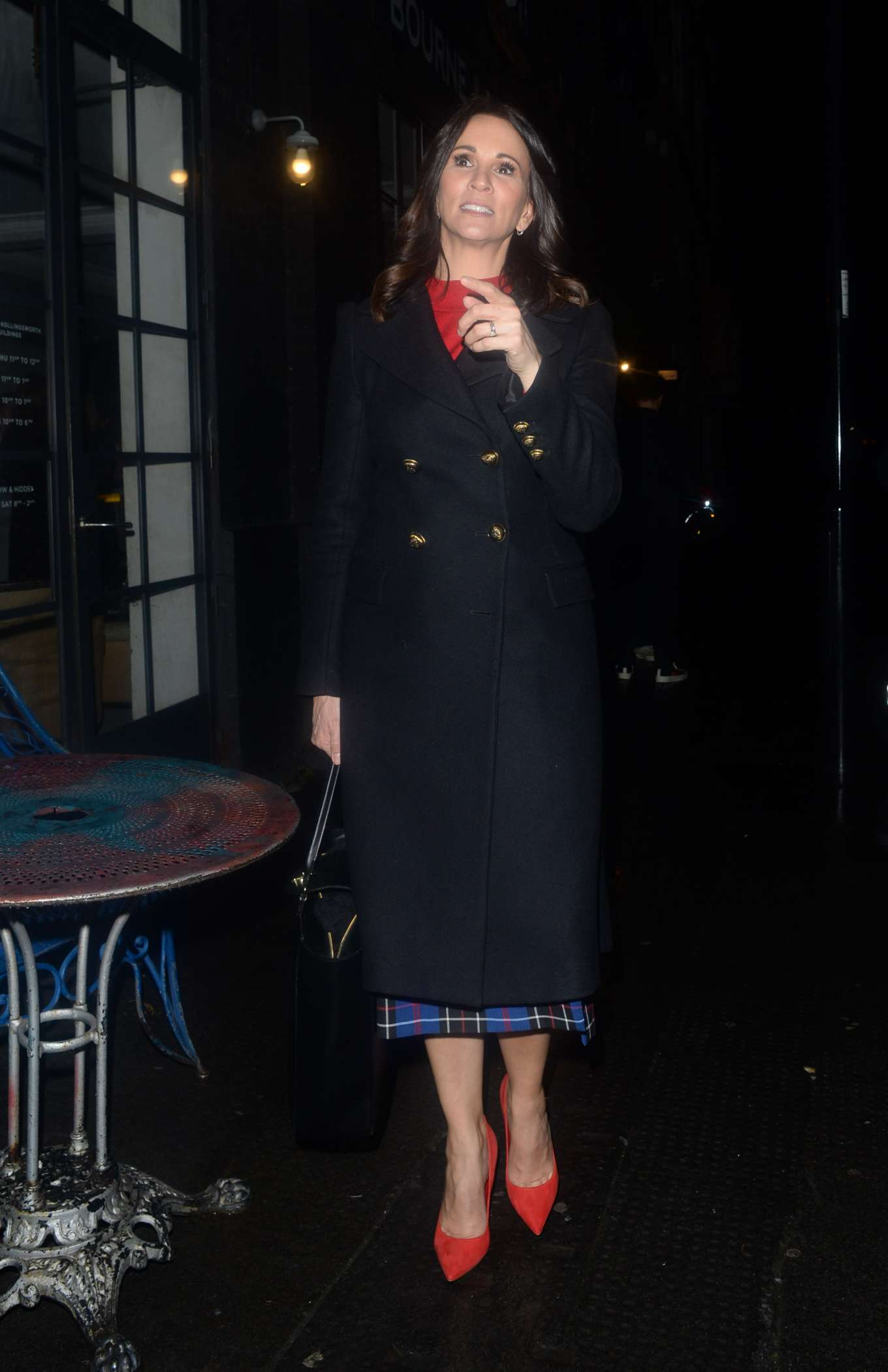 Andrea McLean - Arrives at Frankie Bridge's Book Signing in East London