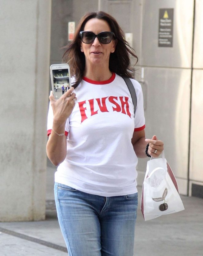 Andrea McLean - Arriving at the BBC Radio 1 studios in London