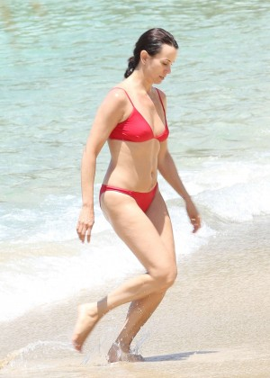 Andrea McLean in Red Bikini in the Caribbean