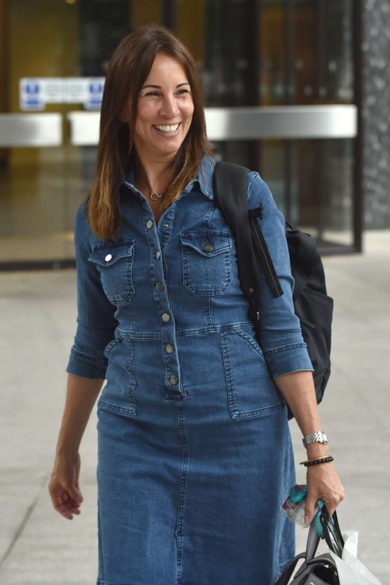 Andrea McLean in Jeans - Arriving at the ITV studios in London