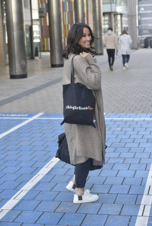 Andrea Mclean - Leaves Leeds studios of Steph's Packed Lunch