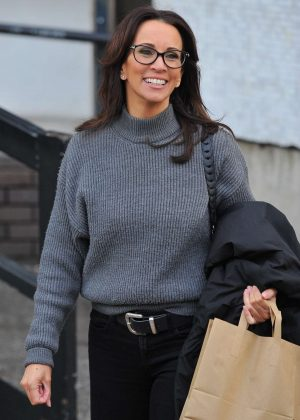 Andrea McLean - Leaving the studios in London