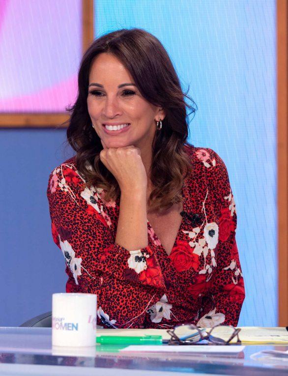 Andrea McLean - On 'Loose Women' TV Show in London