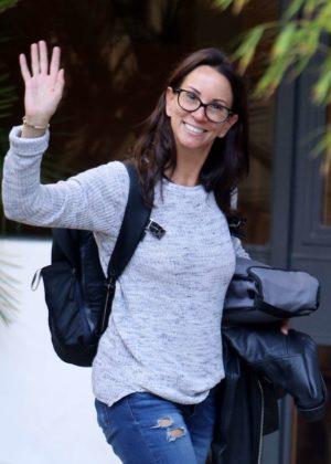 Andrea McLean - Seen outside ITV Studios in London