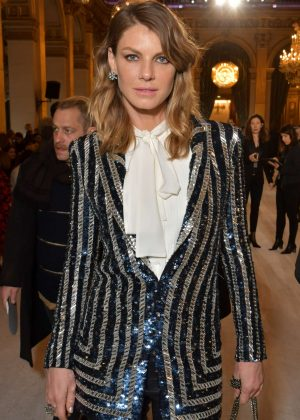 Angela Lindvall - Balmain Fashion Show 2018 in Paris