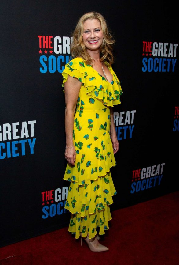 Angela Pierce - 'The Great Society' Play - Broadway Opening Night in New York