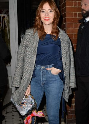 Angela Scanlon - Garnier Ultimate Blends pop-up launch in London
