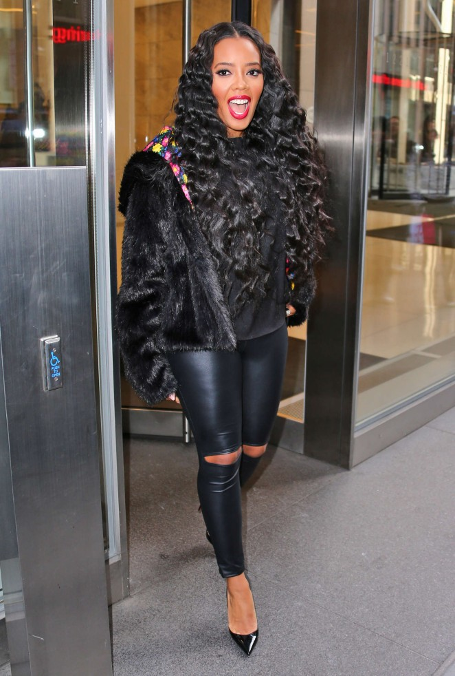 Angela Simmons at AOL BUILD studios promoting her new show 'Growing up Hip Hop' in NY