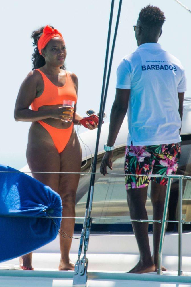 Angela Simmons in Orange Bikini 2019 -15