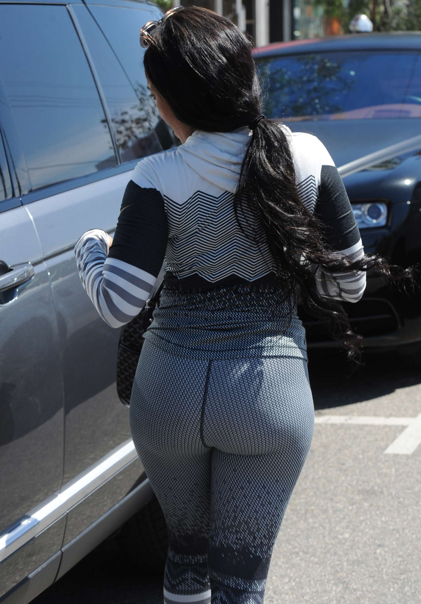 Angela Simmons in Tights out in West Hollywood
