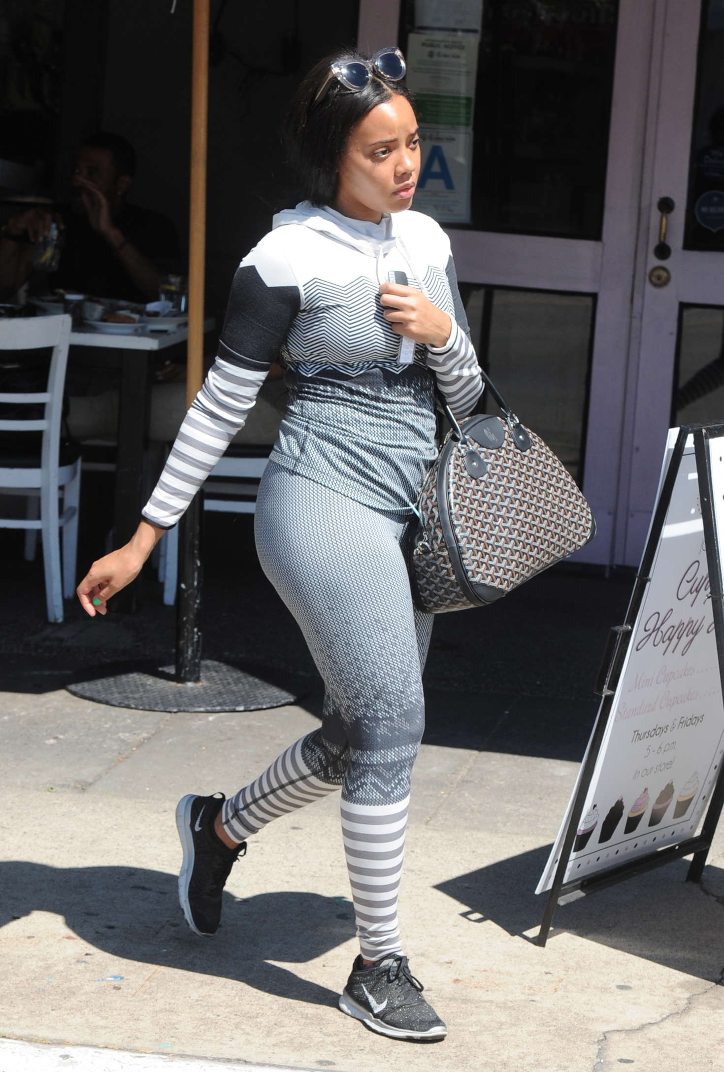 Angela Simmons Booty in Tights       GotCeleb