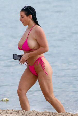 Angela White - In a bikini in Miami Beach