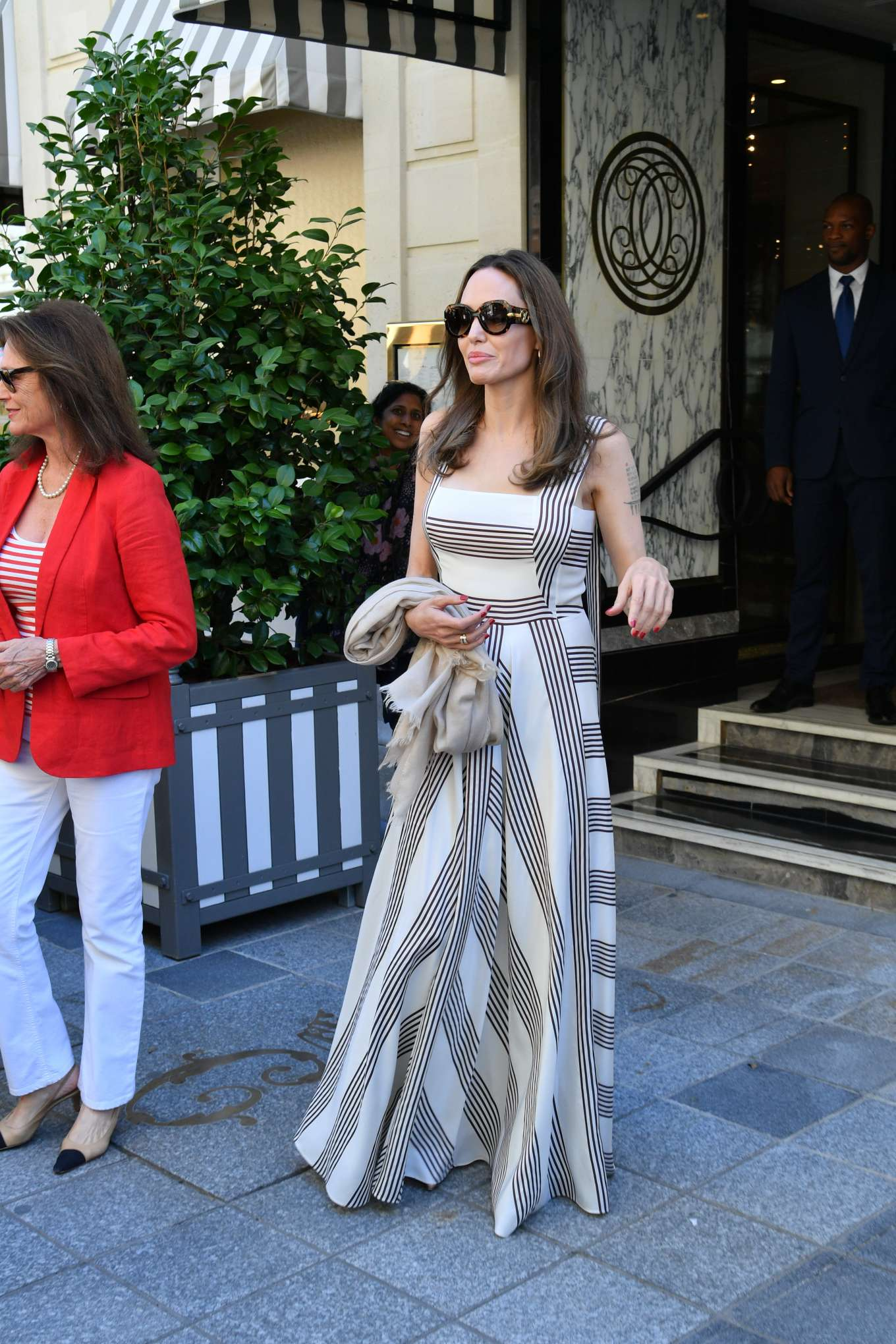 Angelina Jolie 2019 : Angelina Jolie and Jacqueline Bisset – Leaving Their Hotel in Paris-02