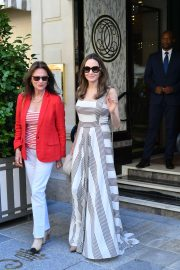 Angelina Jolie and Jacqueline Bisset - Leaving Their Hotel in Paris