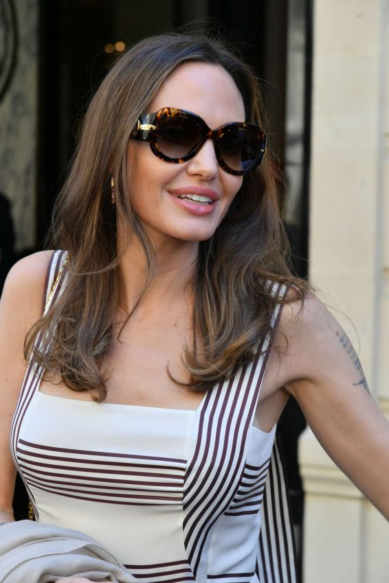 Angelina Jolie and Jacqueline Bisset – Leaving Their Hotel in Paris-05
