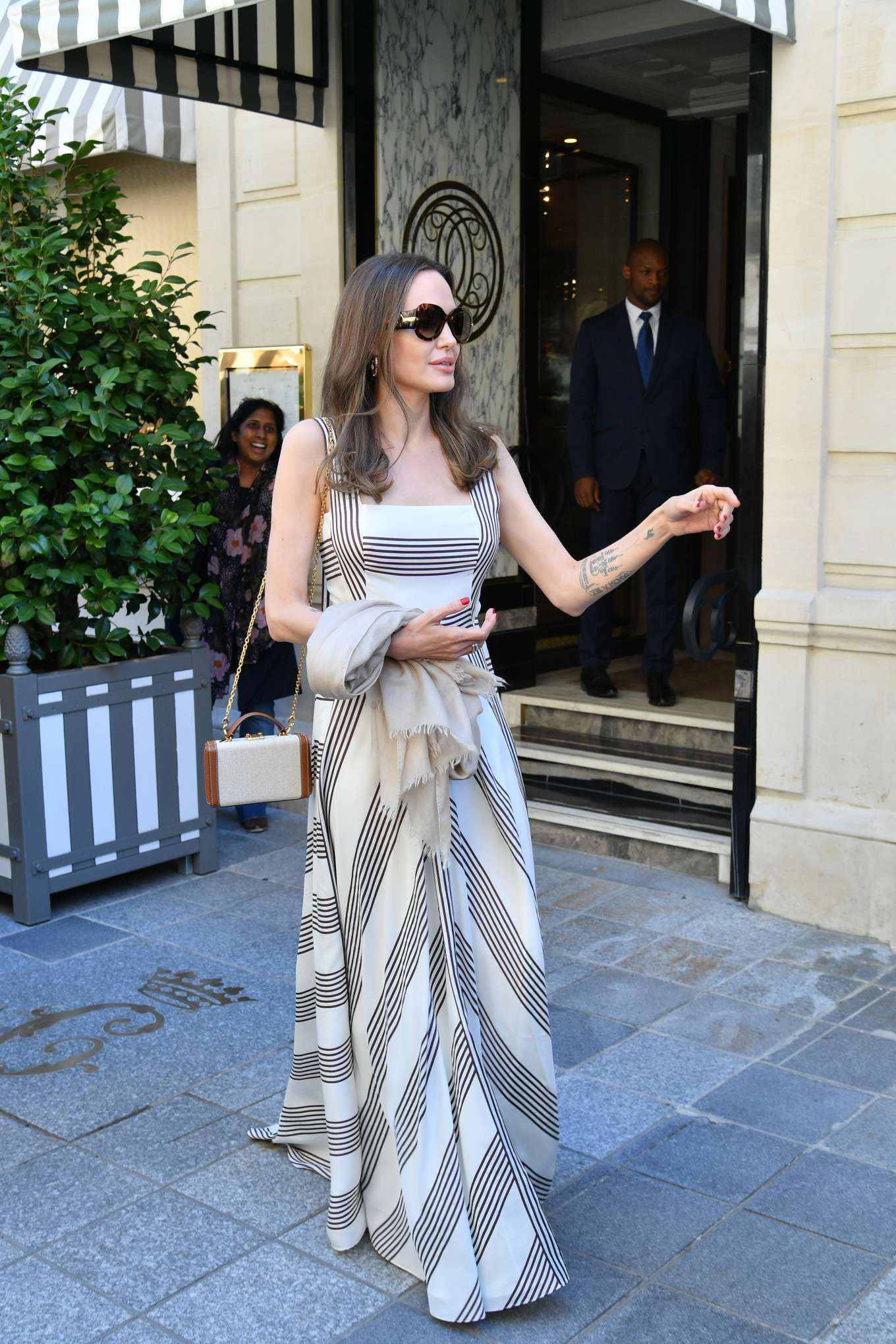 Angelina Jolie 2019 : Angelina Jolie and Jacqueline Bisset – Leaving Their Hotel in Paris-08