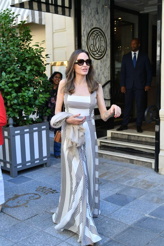 Angelina Jolie and Jacqueline Bisset – Leaving Their Hotel in Paris-12