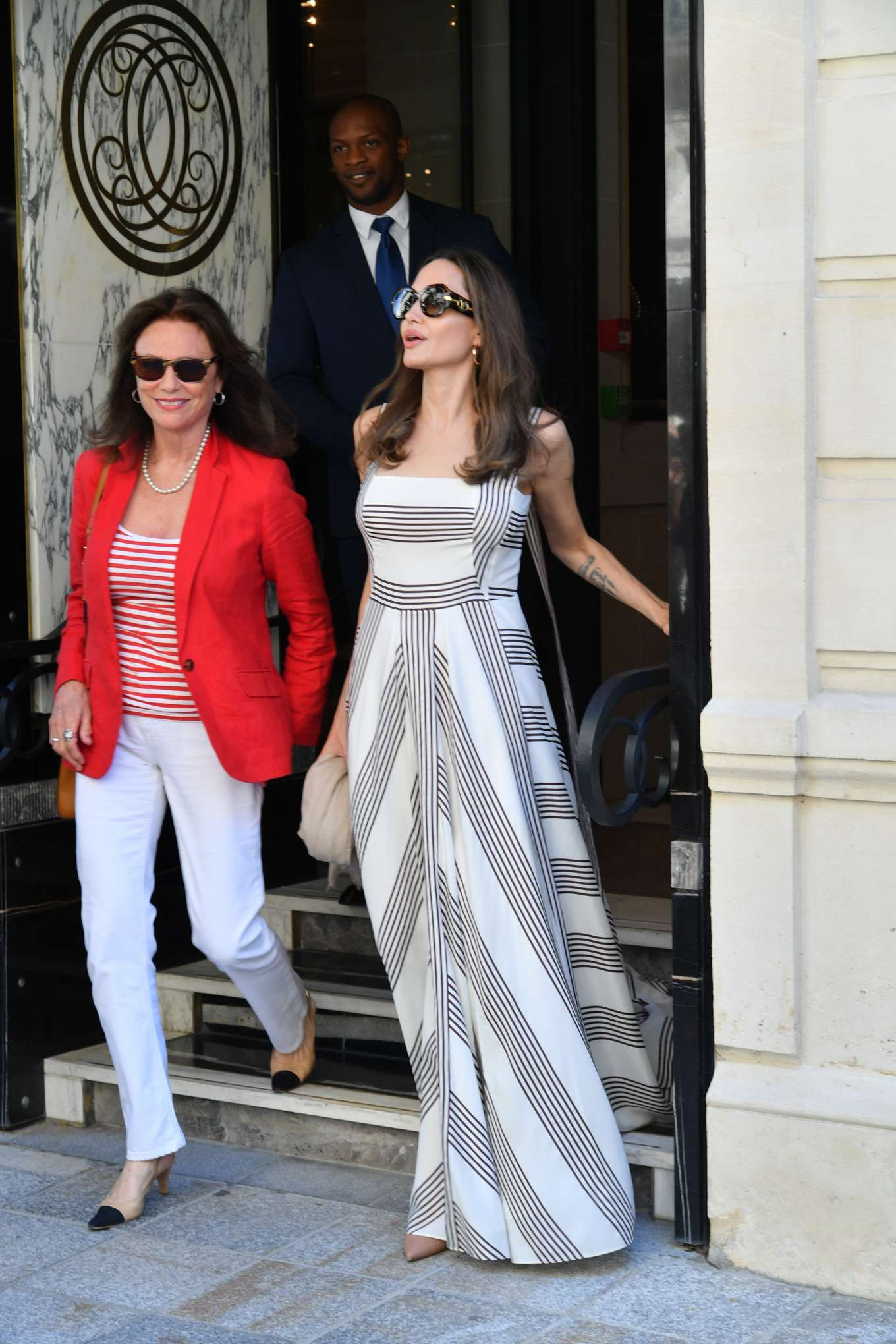 Angelina Jolie 2019 : Angelina Jolie and Jacqueline Bisset – Leaving Their Hotel in Paris-14