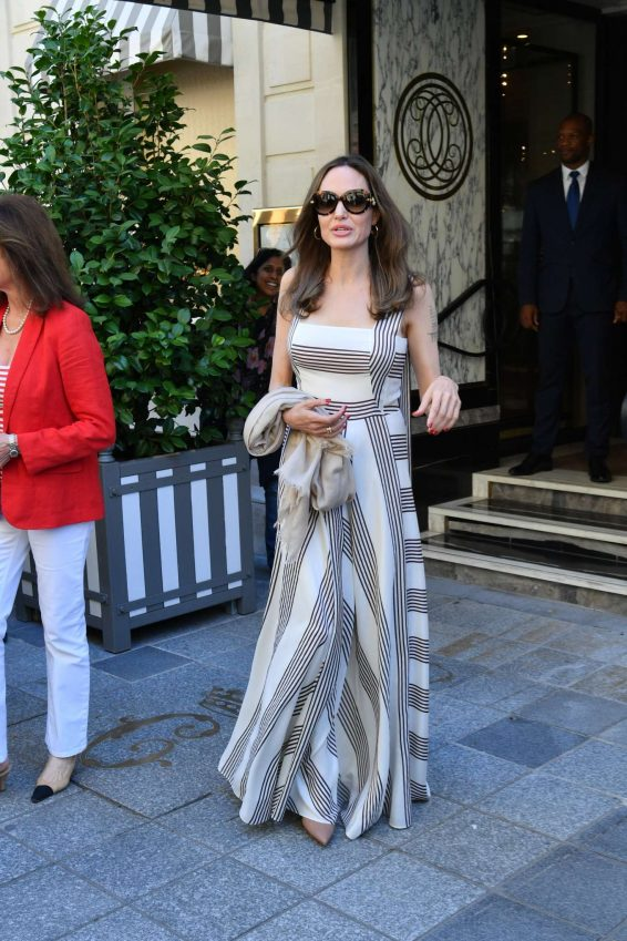 Angelina Jolie and Jacqueline Bisset – Leaving Their Hotel in Paris-18