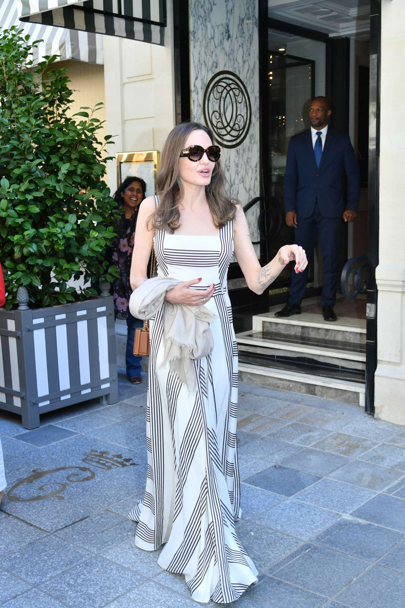 Angelina Jolie 2019 : Angelina Jolie and Jacqueline Bisset – Leaving Their Hotel in Paris-23