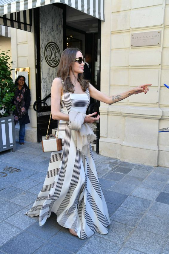 Angelina Jolie and Jacqueline Bisset – Leaving Their Hotel in Paris-27