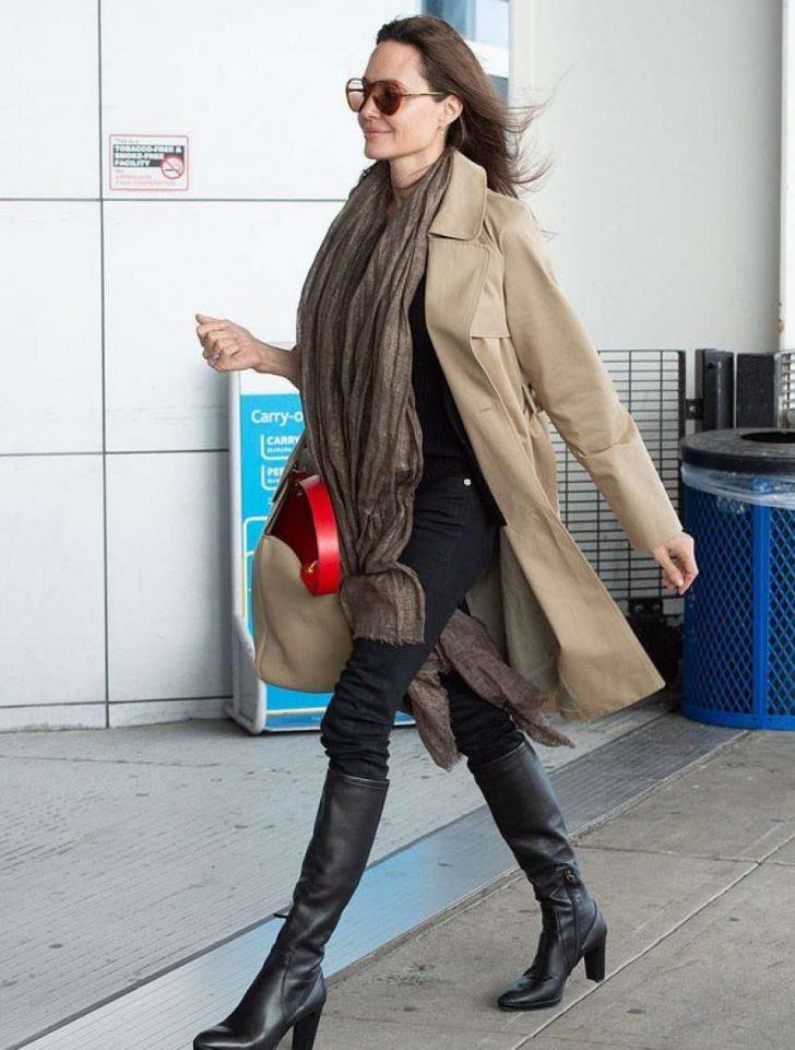Angelina Jolie: Arrives at JFK Airport -01