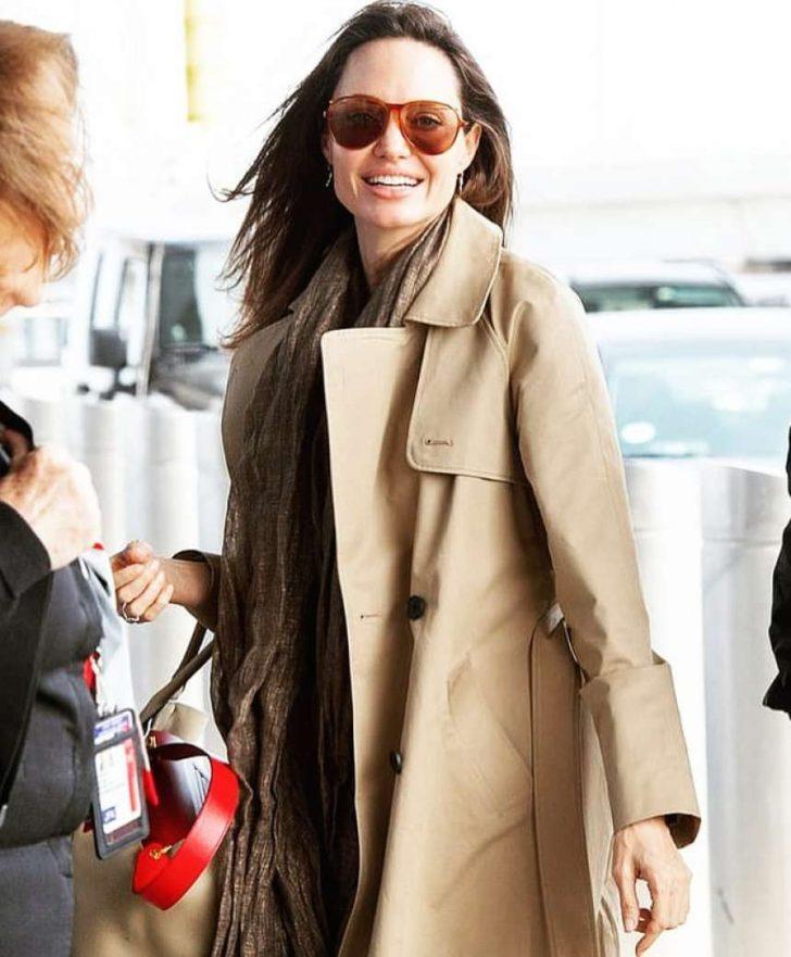 Angelina Jolie: Arrives at JFK Airport -02