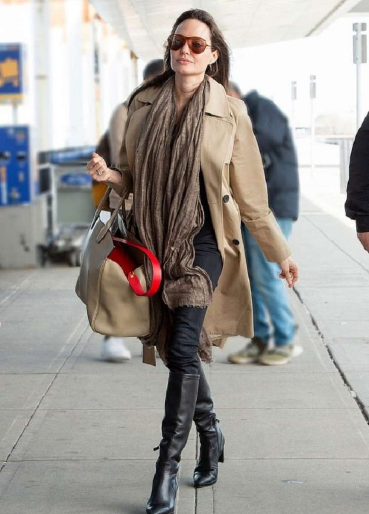 Angelina Jolie - Arrives at JFK Airport in New York