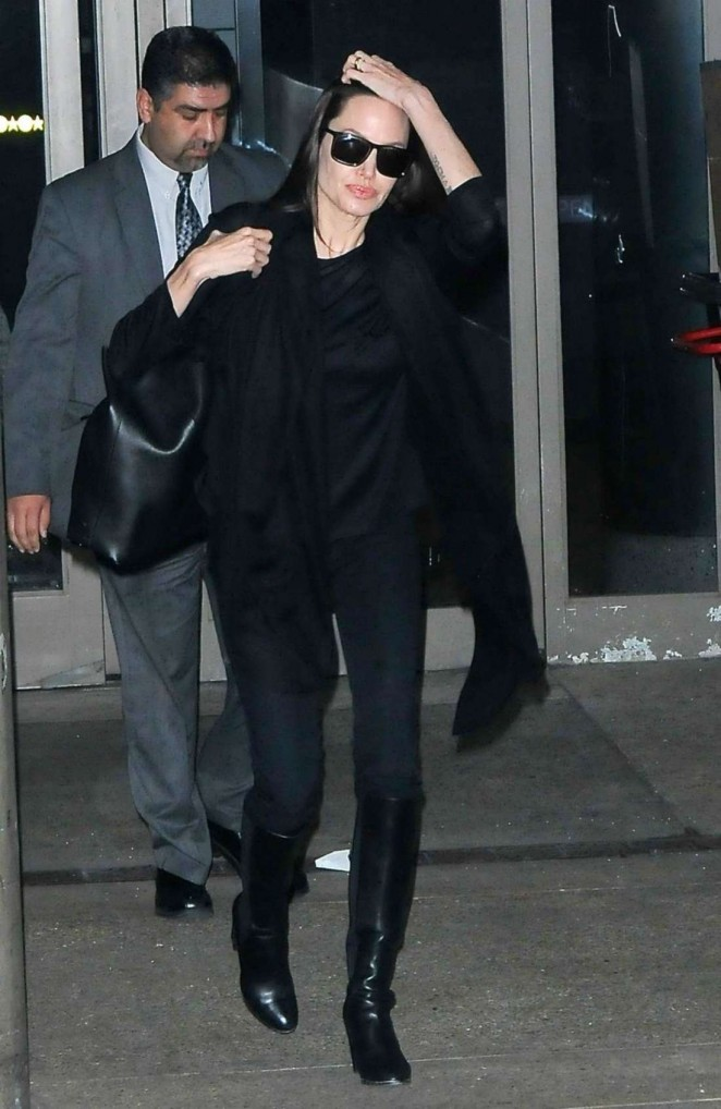 Angelina Jolie Arrives at LAX Airport in LA