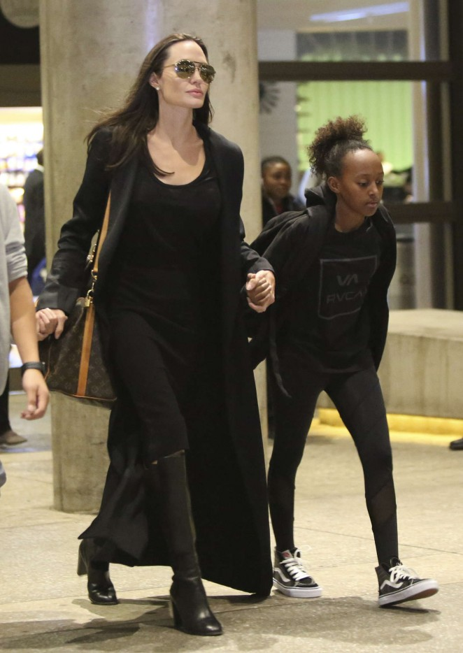 Angelina Jolie Arrives at LAX Airport in Los Angeles